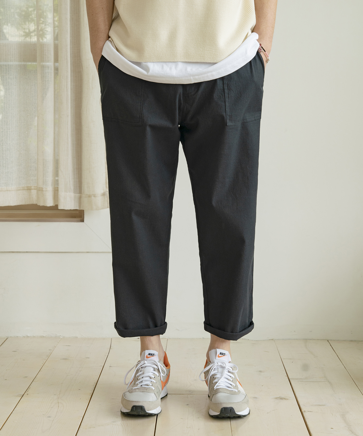 CP-783 B Project Linen Pants_BK